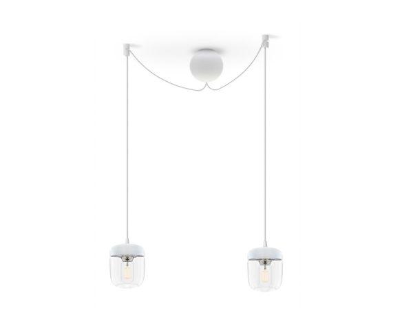 Lámpara colgante Acorn 2104 blanco/acero, de Umage 2