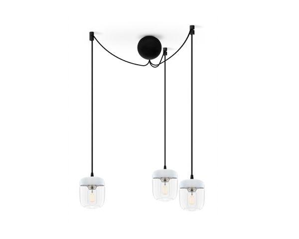 Lámpara colgante Acorn 2104 blanco/acero, de Umage 4