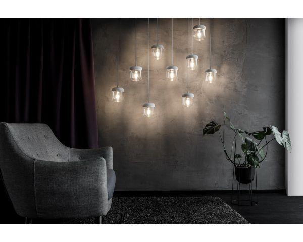 Lámpara colgante Acorn 2104 blanco/acero, de Umage 5