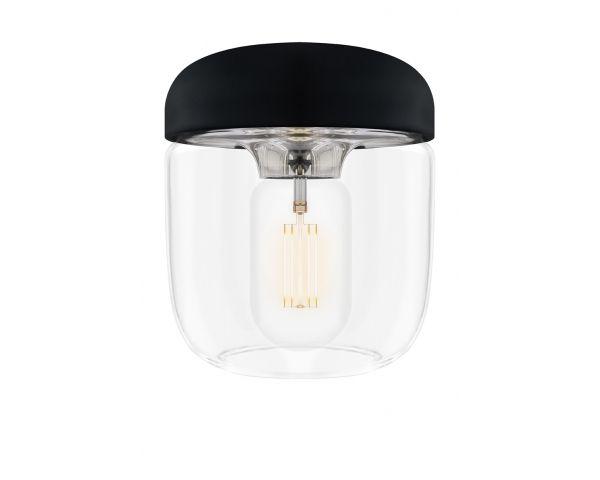 Lámpara colgante Acorn 2081 negra/acero, de Umage