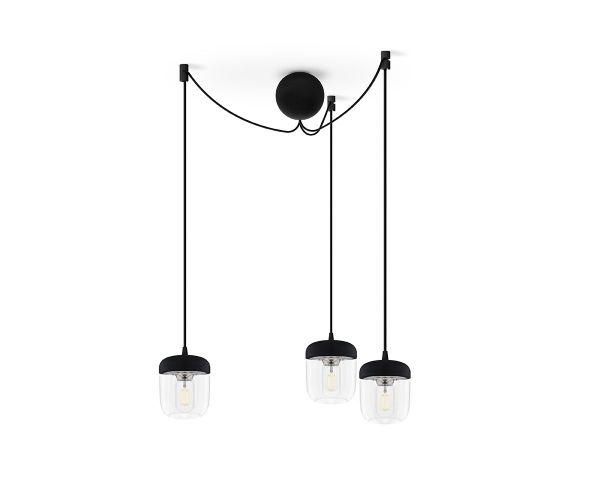 Lámpara colgante Acorn 2081 negra/acero, de Umage 3