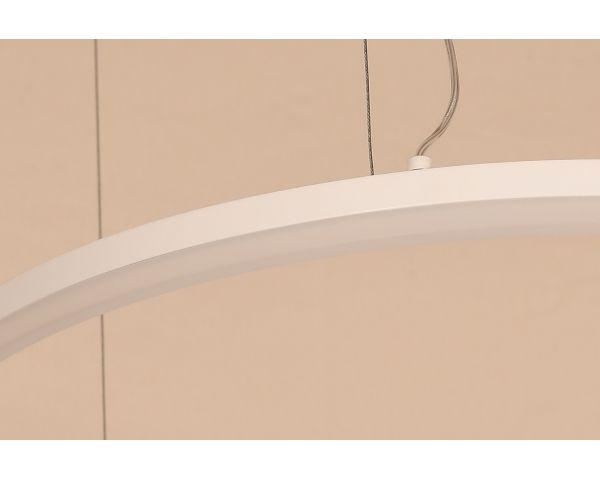 Lámpara colgante PALERMO doble MD5989ML-2 Doble Aro Blanco, de Abelux