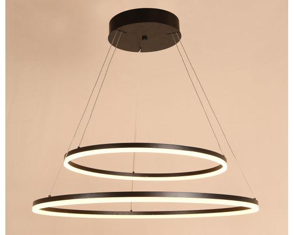 Lámpara colgante PALERMO doble MD5989ML-2 Doble Aro Blanco, de Abelux 2