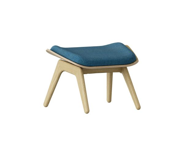 The Reader Ottoman - Roble + Azul Petroleo 5583+5583-1, de Umage