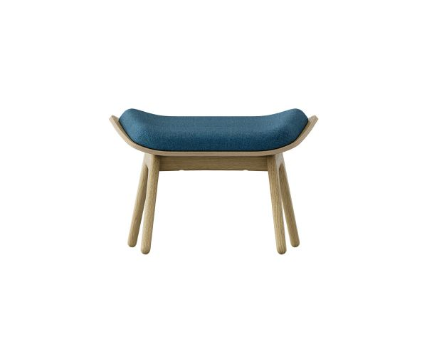 The Reader Ottoman - Roble + Azul Petroleo 5583+5583-1, de Umage 2