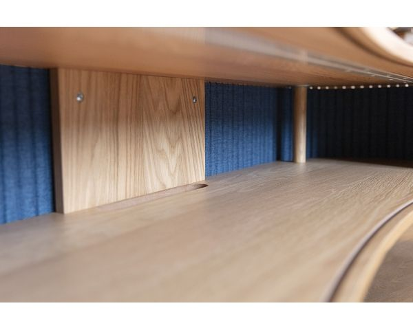 Mueble TV Audacious - Roble + Azul petroleo 5601+5601-1, de Umage 3