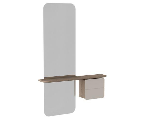 Espejo One More Look - Roble + Blanco Perla 5620+5620-1, de Umage