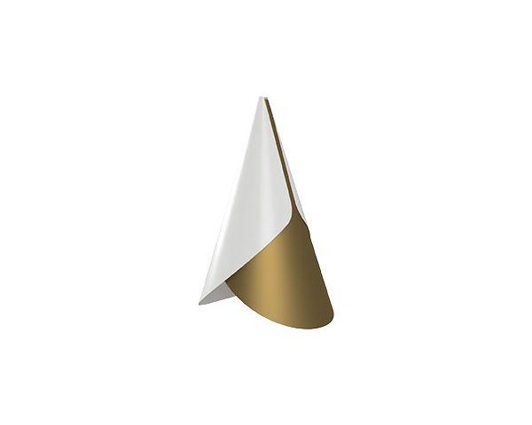 Pantalla Cornet blanco/latón 2194, de Umage